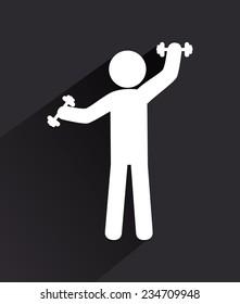 Fitness design over white background,vector illustration