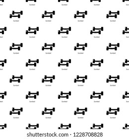 Fitness dumbbell pattern vector seamless repeating for any web design