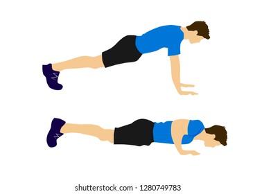 Fitness exercise motivation man - push up