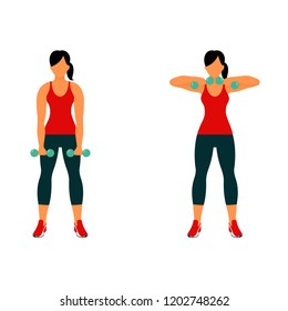 Fitness exercises for strong and beautiful body. Fitness, Aerobic and workout exercise in gym. Vector set of gym icons in line style isolated on white background. People in gym. Gym equipment.