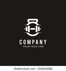 Fitness Gym Barbell Dumbbell logo design Icon Vector