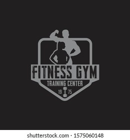 Fitness & Gym bodybuilder Logo Badge Label