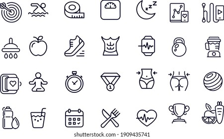 Fitness and Gym Icons vector design