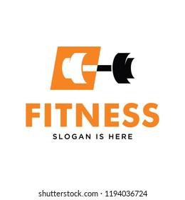 fitness, gym logo design template