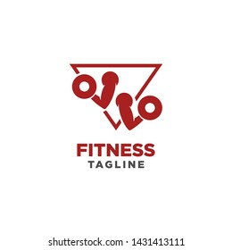 Fitness Gym Logo Design Template. Healthy Life Symbol. Sports Brand or Company