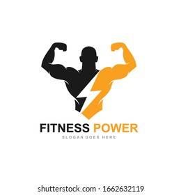 Fitness Gym logo design template, design for gym and fitness club, vector illustration