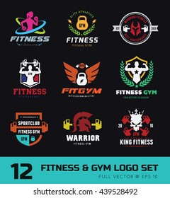 Fitness and GYM logo set