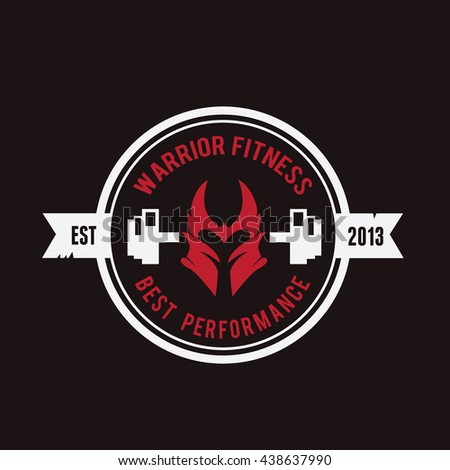 Fitness gym logo template stock vector royalty free