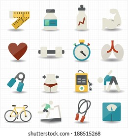 Fitness and health care icons