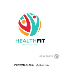 Fitness and Health logo template