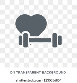 fitness Heart icon. Trendy flat vector fitness Heart icon on transparent background from Gym and fitness collection.