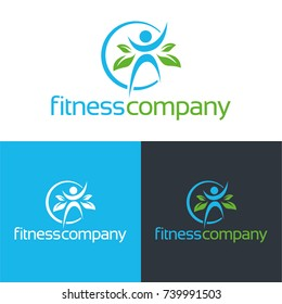 Fitness Icon and Logo - Vector Illustration