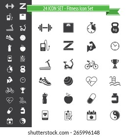 Fitness icons - 24 Icon Set