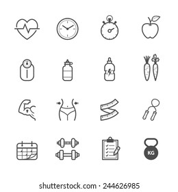 Fitness Icons and Health Icons