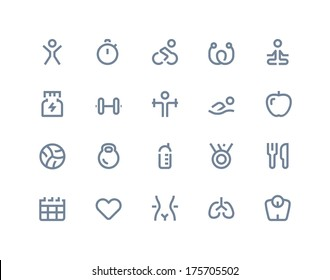 Fitness icons. Line series