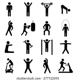 Fitness icons set illustration