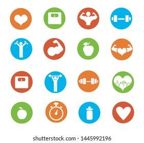 Fitness icons vector illustration design