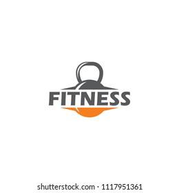 Fitness logo design. Gymnastic logo template. Body building logo concept. Sport and recreation logo for club or business.