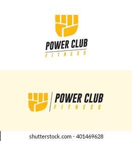 Fitness logo. Gym club icon