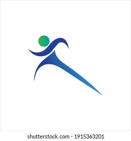 fitness logo symbol illustration design template - vector
