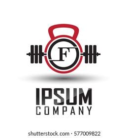 Fitness logo vector / F letter Logos