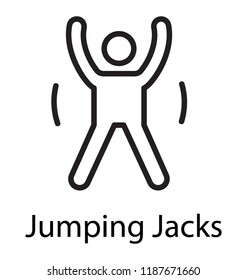 Fitness man doing jumping jack or star jump exercise outdoors