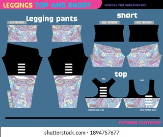 fitness pants top and short,sport wear ready to use