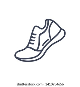 Fitness Running Shoe Icon Illustration