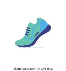 Fitness Running Shoe Icon Illustration