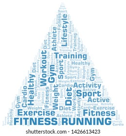 Fitness Running word cloud. Wordcloud made with text only.