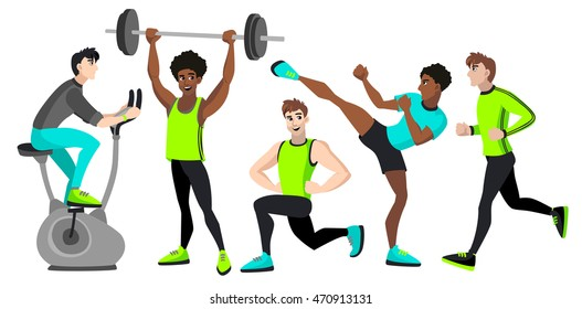 Fitness Cartoon Images, Stock Photos & Vectors