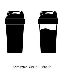 Fitness shaker icon, logo on white background