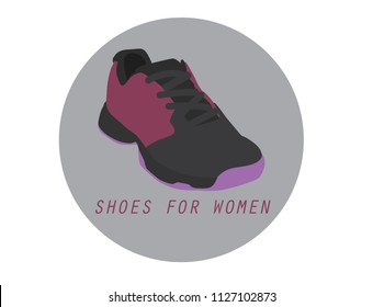 Fitness sneakers shoes for training running shoe flat design. Shoes icon