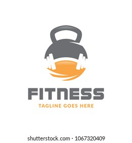 fitness sport body building logo icon vector template