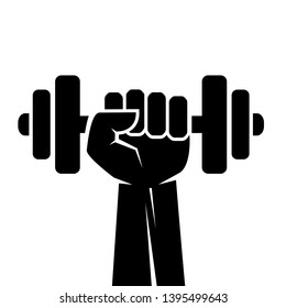 Fitness sport vector icon isolated on white background