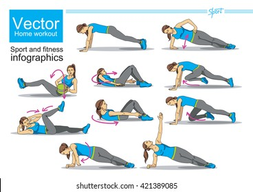 Stretching Exercise Home Stock Vectors, Images & Vector Art