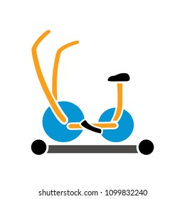 Fitness sports icon - indoor cycling, body training exercise for healthy lifestyle activity