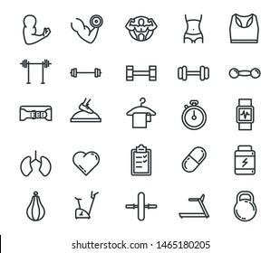 Fitness Symbol Sign Icon Collections