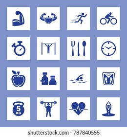 Fitness Vector Icon Set. Eps-10.