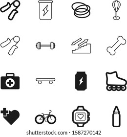 fitness vector icon set such as: pulsometer, career, vehicle, pulse, extreme, skates, animal, street, dog, kit, kid, drug, first, art, watch, man, bodybuilding, food, emergency, red, barbell, cycle