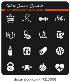 fitness web icons for user interface design