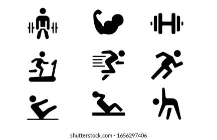 fitness workout icon design simple design vector syambols