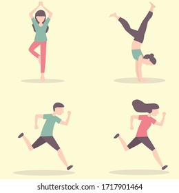 fitness yoga health happy life