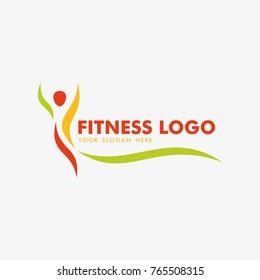 fitness and yoga logo icon