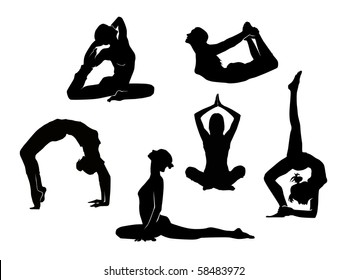 Fitness Yoga. Vector.