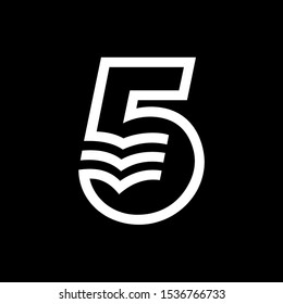 Five 5 number letter alphabet new style