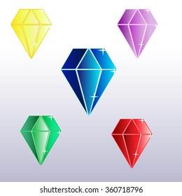 five different diamonds games