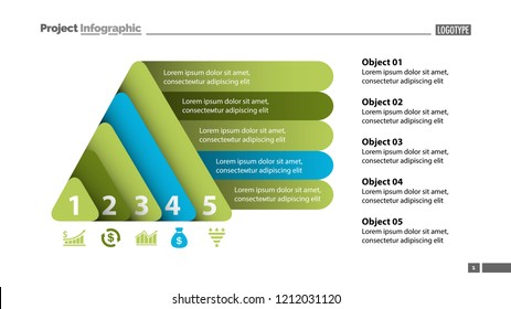 triangle pyramid infographic template 7 steps stock vector royalty
