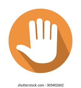 five fingers gesture