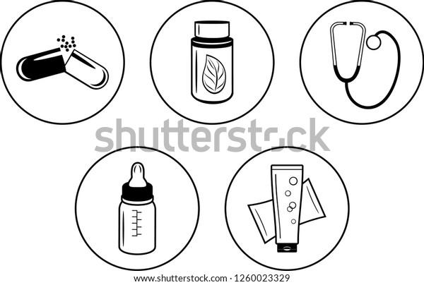 five-icons-pharmacy-design-vector-600w-1
